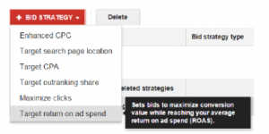 "Google Shopping Einstellung ""Return on Ad Spend"""